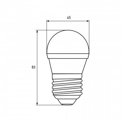 """Светодиодная EUROELECTRIC LED Лампа """"Шар"""" ЕКО G45 5W E27 4000"""