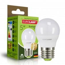 Светодиодная лампа Eurolamp G45 5W Е27 3000K (LED-G45-05273(P))