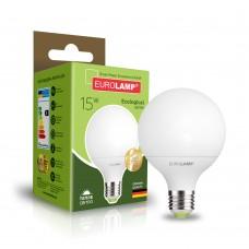 Светодиодная лампа Eurolamp G95 15W Е27 3000K (LED-G95-15272(P))