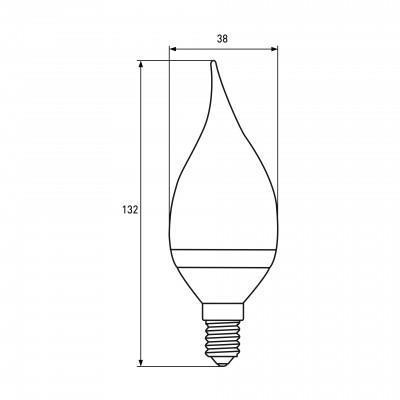 """Светодиодная EUROELECTRIC LED Лампа """"Свеча на ветру"""" 6W E14 4000K"""