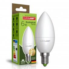 Светодиодная лампа Eurolamp CL 6W Е14 3000K (LED-CL-06143(P))