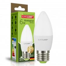 Светодиодная лампа Eurolamp CL 6W Е27 3000K (LED-CL-06273(P))