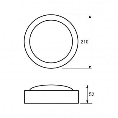 Светодиодный EUROLAMP LED Светильник круглый накладной ЖКХ 18W 5500K