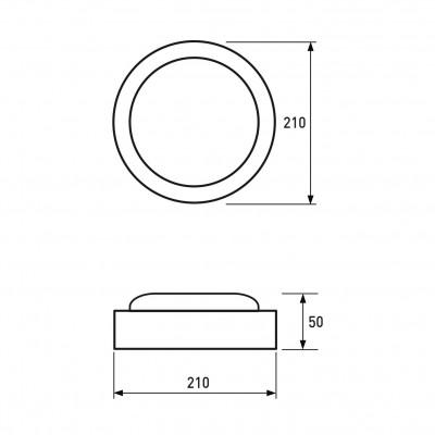 Светодиодный светильник Eurolamp накладной круглый ЖКХ 12W 5500K (LED-NLR-12/55(F))