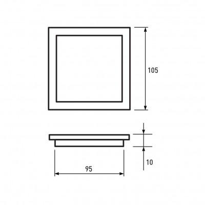 Светодиодный светильник Eurolamp DownLight квадратный 4W 4000K (LED-DLS-4/4)