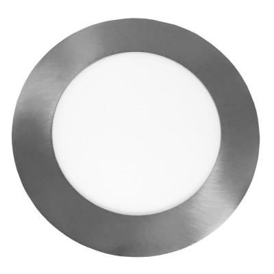 Светодиодный EUROLAMP LED Светильник круглый точечный 6W 4000K(silver)