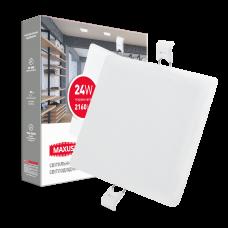 Светильник врезной MAXUS SP edge 24W, 4100К (квадрат)