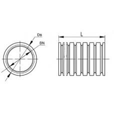 Гофротруба ПВД Ø16 мм лёгкая с протяжкой (черная)