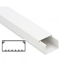 Белый кабель-канал 100x40 с направляющими In-Liner, 2м,