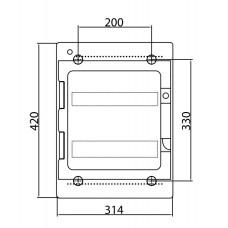 Щит настенный 24 мод. с дверцей RAL7035 Ram Base,