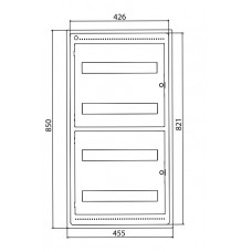 Щит встраиваемый 72 мод. с дверцей RAL9016 Ram Base,