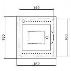 Щит встраиваемый Ram Base 4 модуля с дверцей RAL9016