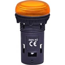 Матовая сигнальная лампа ECLI-240A-A 240V AC (оранжевая)