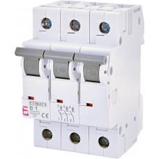 Автоматический выключатель ETIMAT 6 3p B 6А (6 kA)
