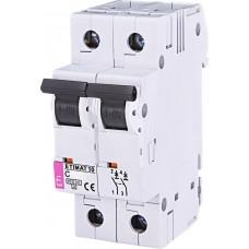 Автоматический выключатель ETIMAT 10 2p C 50А (6 kA)