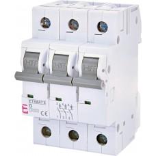Автоматический выключатель ETIMAT 6 3p D 4A (6kA)