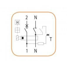 Дифференциальный автомат KZS-2M B 16/0.03 тип AC (10kA) ETI 2173104