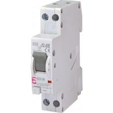Дифференциальный автомат KZS-1M C 10/0.03 тип A (6kA) с нижним подключением ETI 2175222