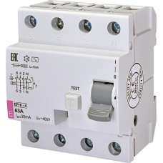 Реле дифференциальное EFI6-4 63/0,03 тип AC