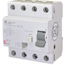 УЗО EFI-4 63/0.03 тип AC (10kA)