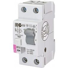 УЗО EFI-2 25/0.1 тип AC (10kA)