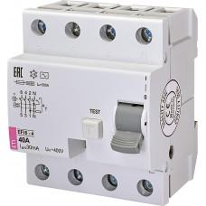 УЗО EFI6-4 40/0,03 тип AC (6kA)