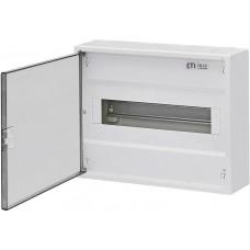 Однорядный наружный электрощиток ACT 12 PO 12+2 с белой дверцей ETI 1100243