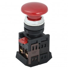 Кнопка AEА-22 «Грибок» красная Ø22мм 1з+1р