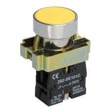 Кнопка LAY5-BA51 желтая 1з