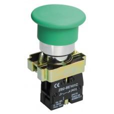 Кнопка LAY5-BC31 «Грибок» зеленая 1з