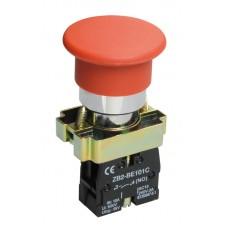 Кнопка LAY5-BC41 «Грибок» красная 1з