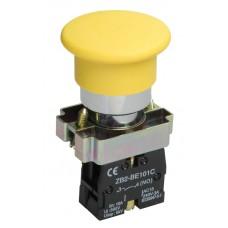 Кнопка LAY5-BC51 «Грибок» желтая 1з