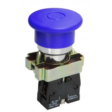 Кнопка LAY5-BC61 «Грибок» синяя 1з