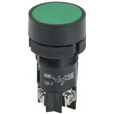 Кнопка SВ-7 «Пуск» зеленая 1з Ø22мм/220В IEK BBT40-SB7-K06