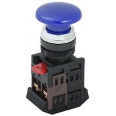 Кнопка управления AEА-22 «Грибок» синяя Ø22мм 1з+1р