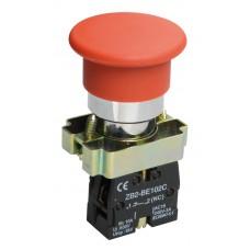 Кнопка управления LAY5-BC42 «Грибок» красная 1р (размыкающий контакт)