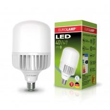 Светодиодная лампа высокомощная 40W E40 6500K Eurolamp LED-HP-40406